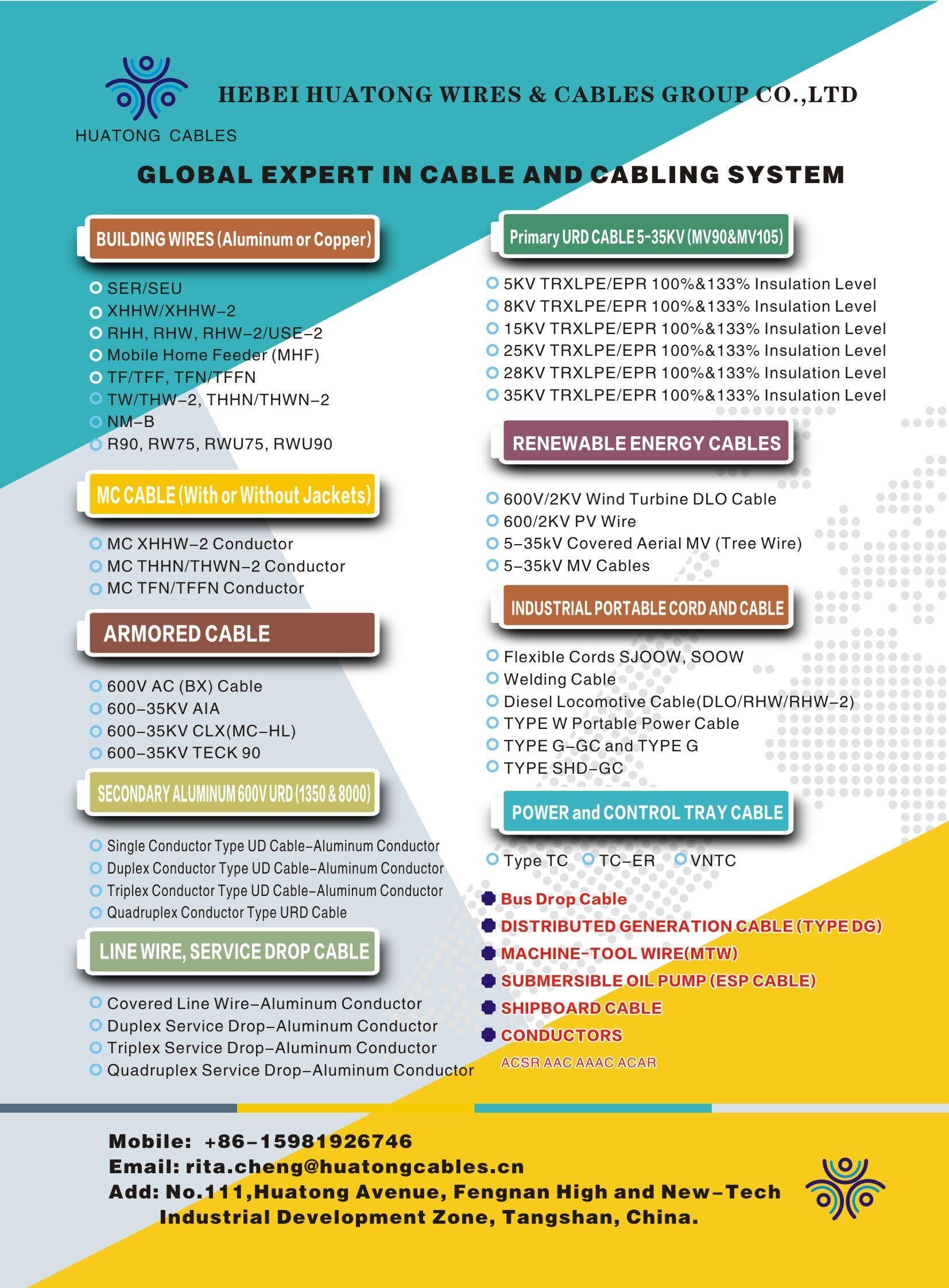 UL Listed UL Certificate Aluminum Concentric Seu Ser Aerial Service ...