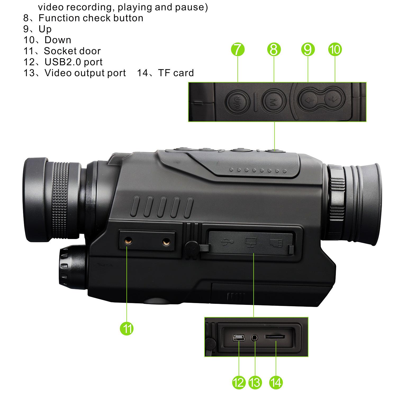 Digital Scope for Hunting Telescope Long Range Night Vision Monocular