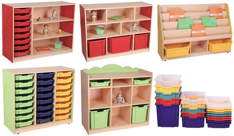 Big Drawers Wooden Storage Cabinet For Preschool