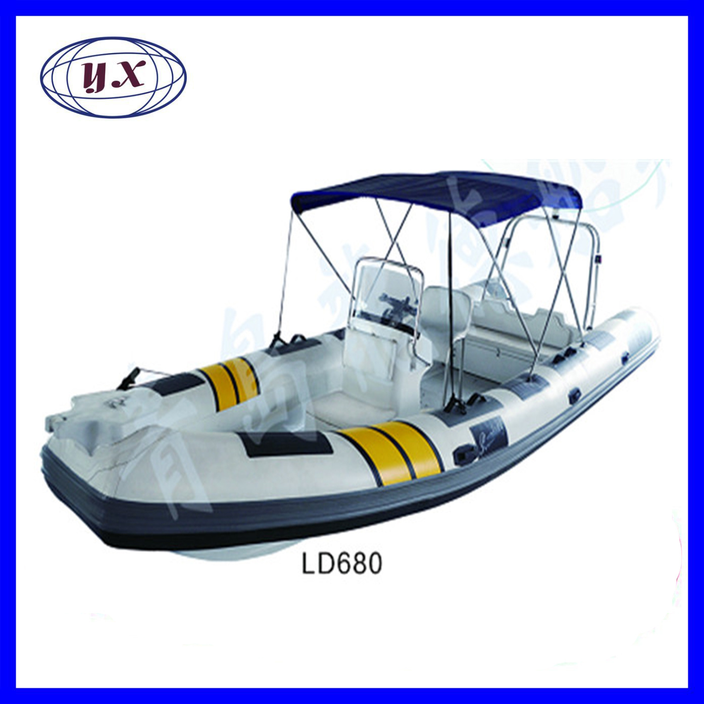 [Hot Item] Ld680/680mm/ISO Certificate Hypalon 3 Person Inflatable Jet  Kayak with Paddles