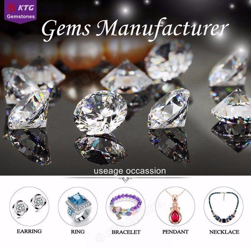 [Hot Item] 5mm Blue CZ Gems Brilliant Cut Round 8 Hearts & 8 Arrows 57  Facets Cubic Zirconia Birthstones