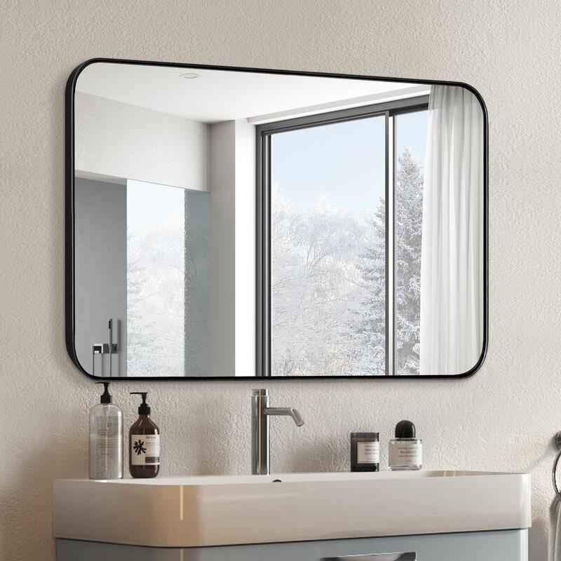 Rectangle Framed Mirror Whole Frame, Mirror For Bathroom