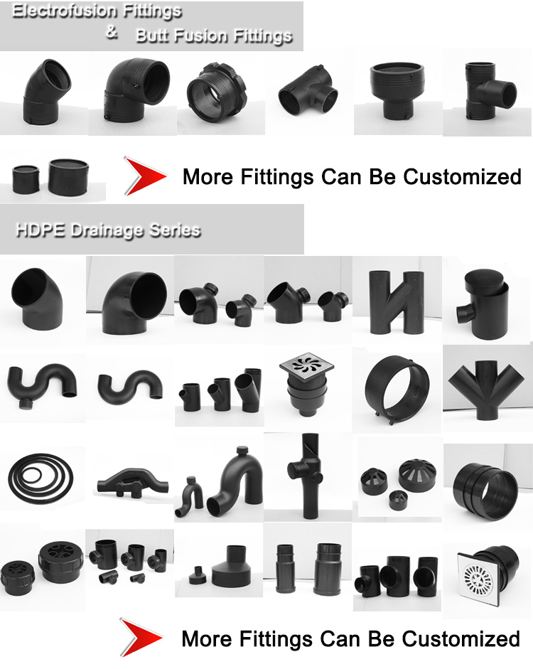 Hdpe Pipe 90mm Expansion Tee Tube Pipe Fittings Different Types Of