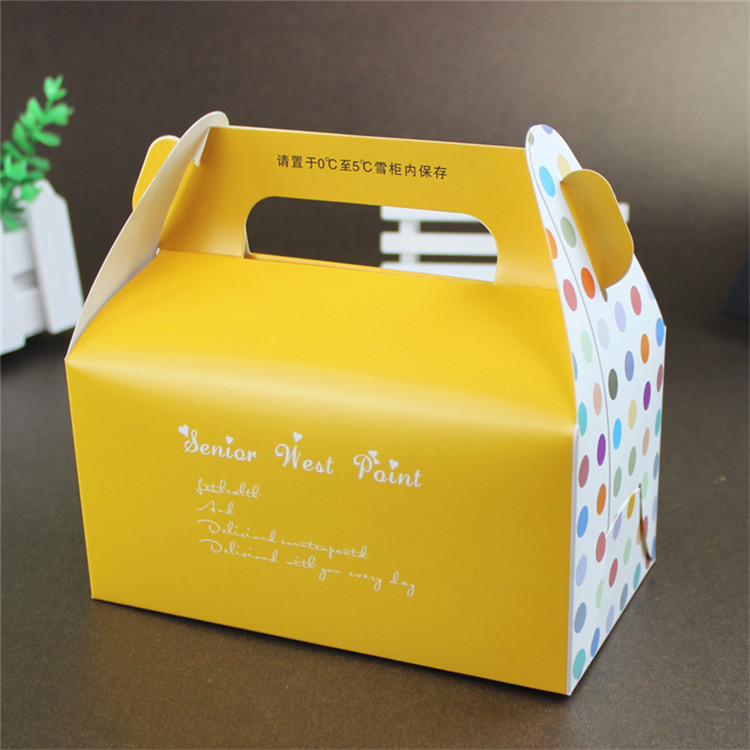 customized oem top class white cake boxes with handles custom