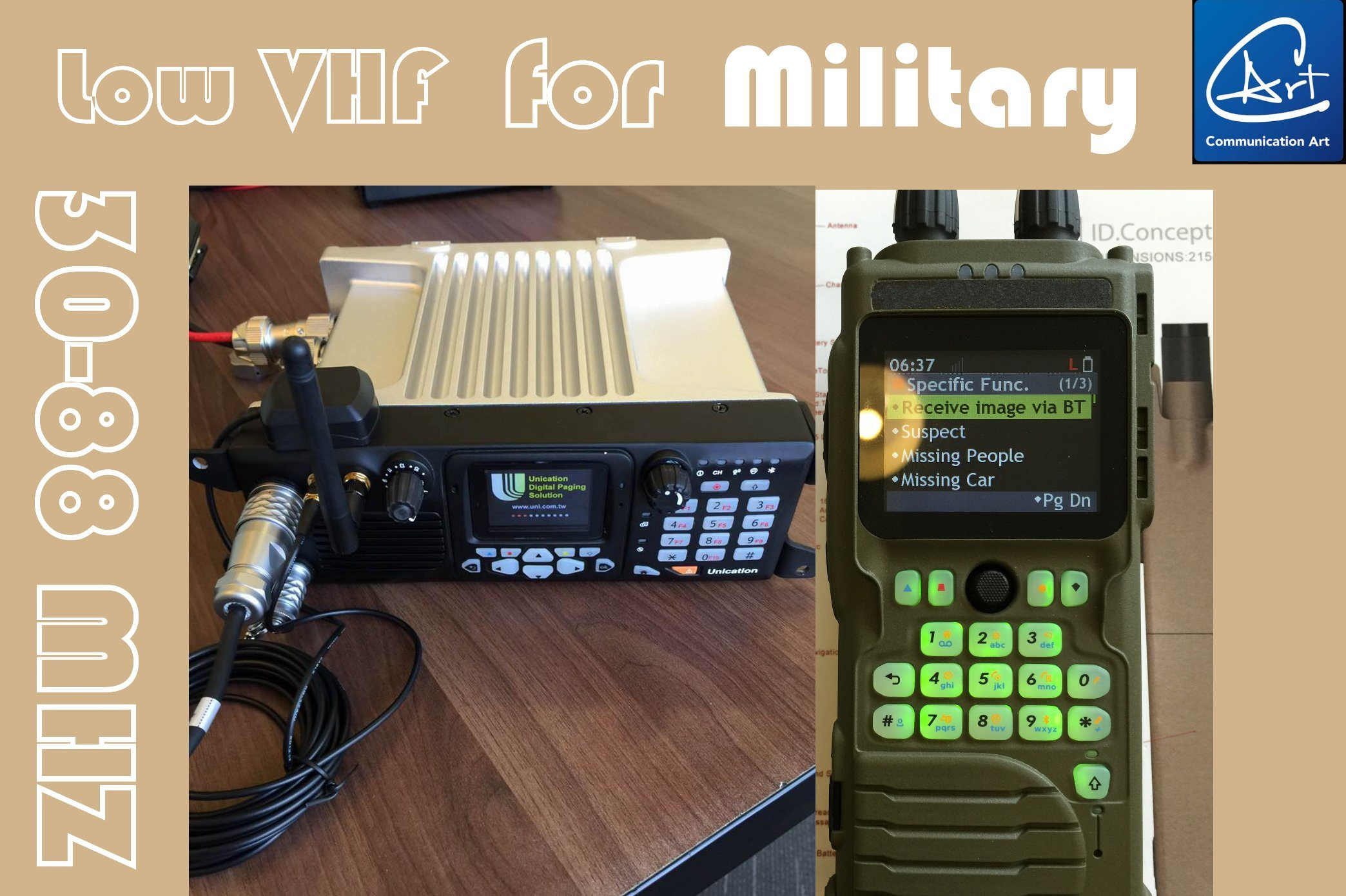Backpack Two Way Radio, Military Low VHF Radio for Military - China