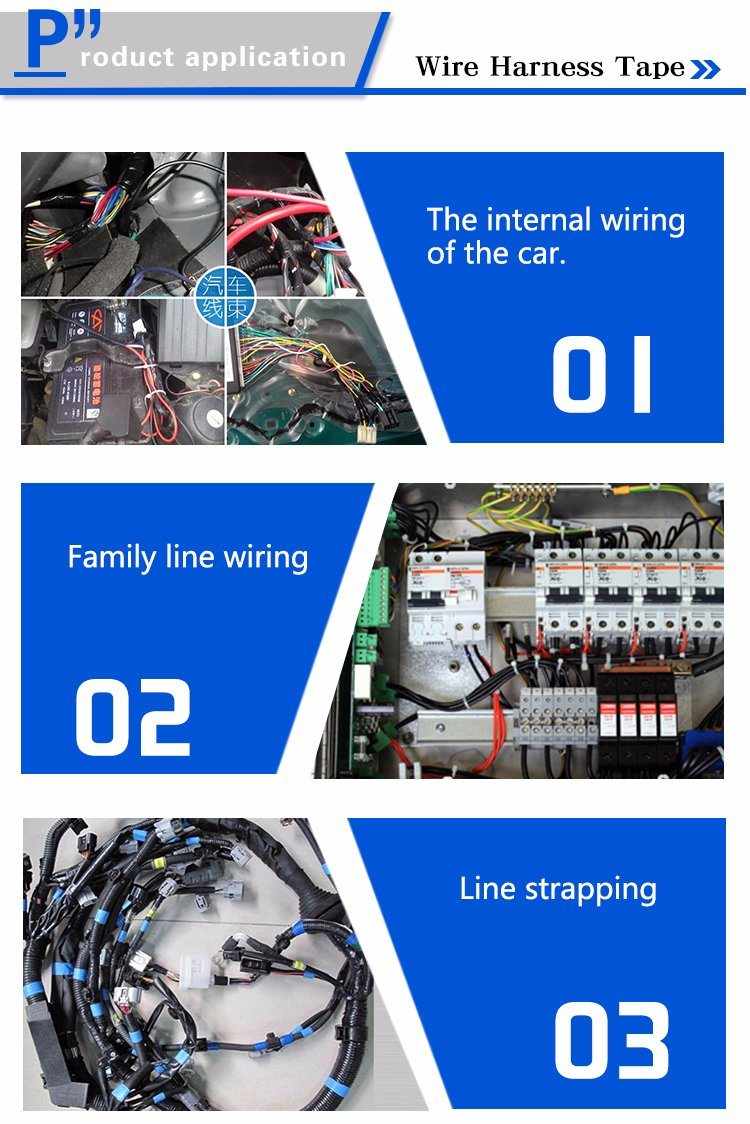 Pvc Electrical Winding Insulation Automobile Wire Harness Adhesive Wiring Tape Founded Time
