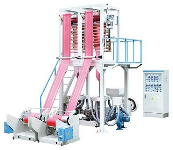 PE/PP Plastic Double Color Stripe Film Blowing Machine, Chsj-50/55/65e