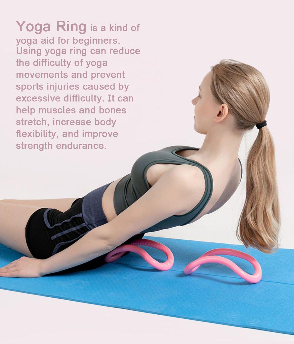 Yoga Ring Open Shoulder Beauty Back Stretching Cervical Yoga Circle Pilates