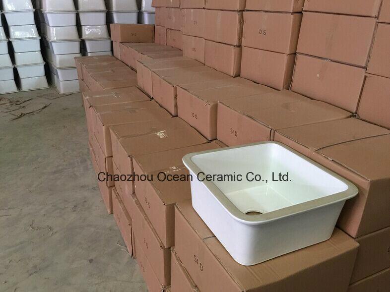 El sk 200 fregadero de cer mica porcelana lavabo lavabo for Fregaderos de porcelana