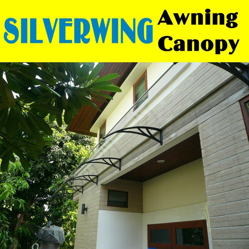 80x120cm Outdoor Diy Polycarbonate Balcony Canopy With Plastic
