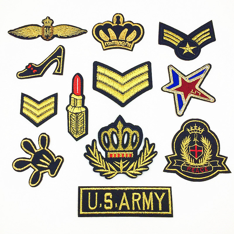 [Hot Item] High Quality Military Embroidery Patch for Boy Men Clothing  Jeans Jacket Iron on Clothes Army Appliques Badges Fabric DIY (YB-e-036)