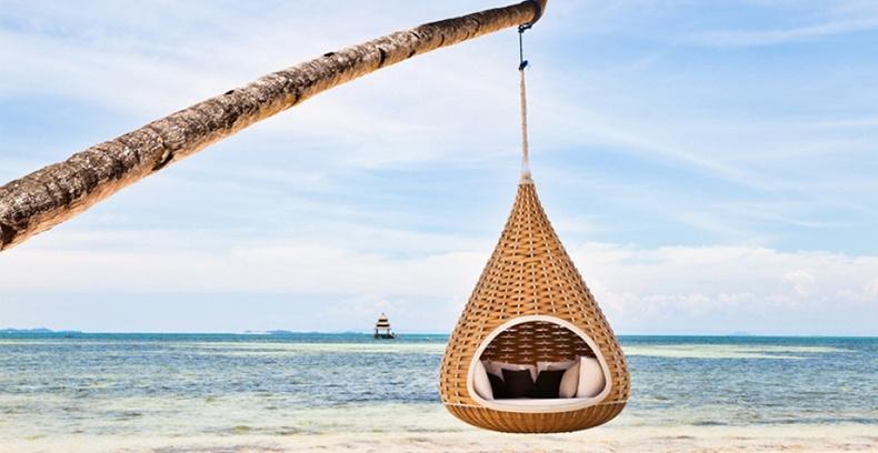 Bosque jard n al aire libre playa sal n muebles silla for Tumbona colgante