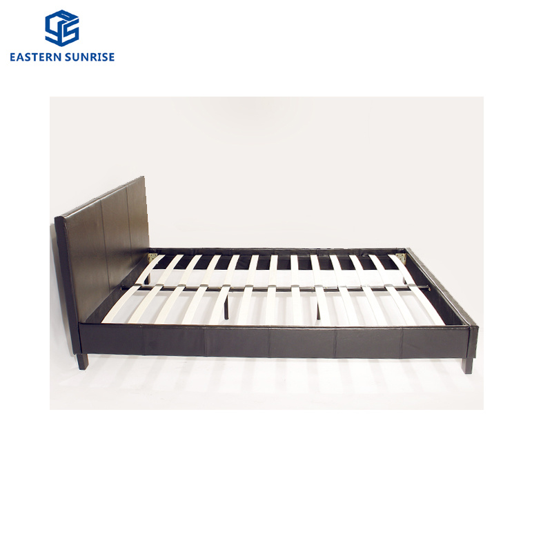 Real Leather Solid Wood Bedhead Kind, Solid Wood Queen Bed