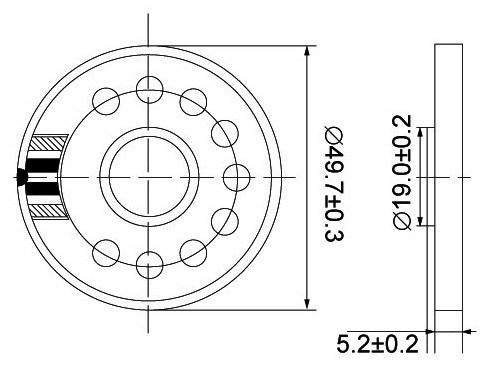 50mm Speaker 4ohm 1w Speaker For Car Audio System