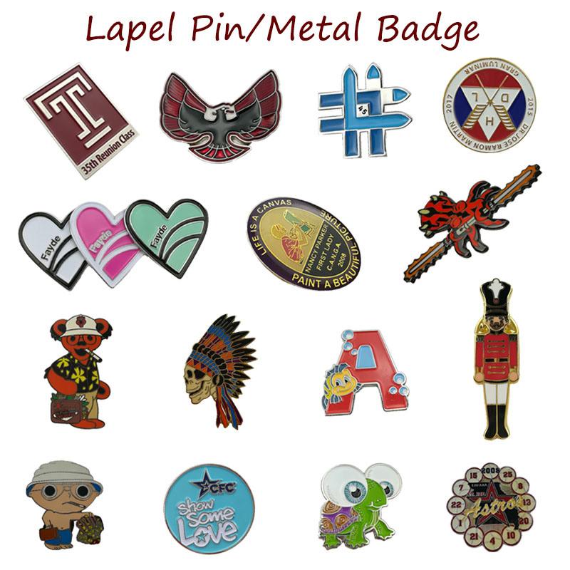 [Hot Item] Wholesale Newest Custom Gold Pated Metal Lapel Pins