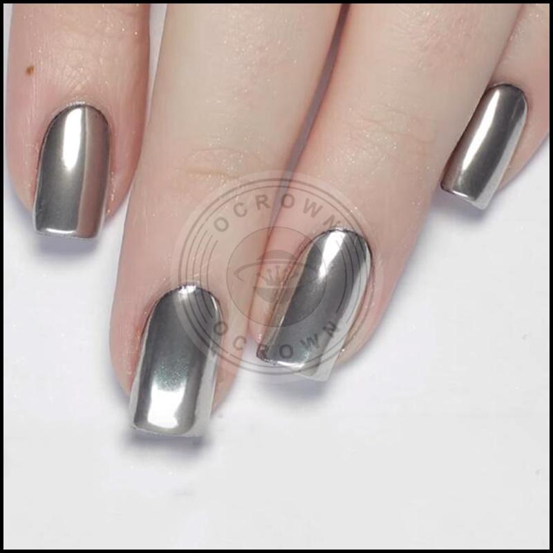 Silver Gold Nail Powder Chameleon Mirror Pigment for Nail Art Gel ...