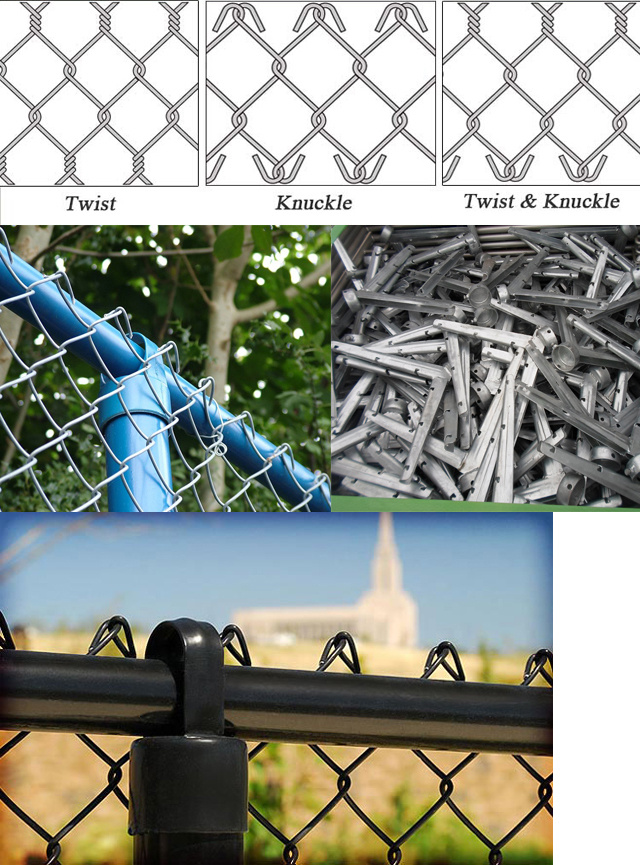 Garden Used Black Color Chain Link Fence Diamond Wire Mesh - China ...