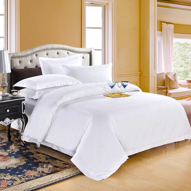 c837653cf6 300TC de Algodão Egípcio Queen Size conjunto de roupa de cama branca ...