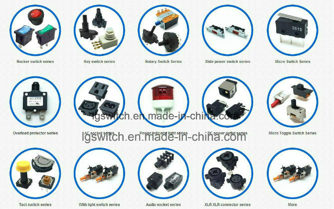 Subminiature 2 Position Rocker Switch 3A250VAC