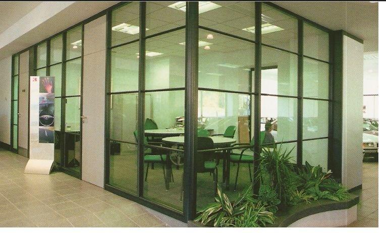 Bureau de verre aluminium des murs en verre de partition partition