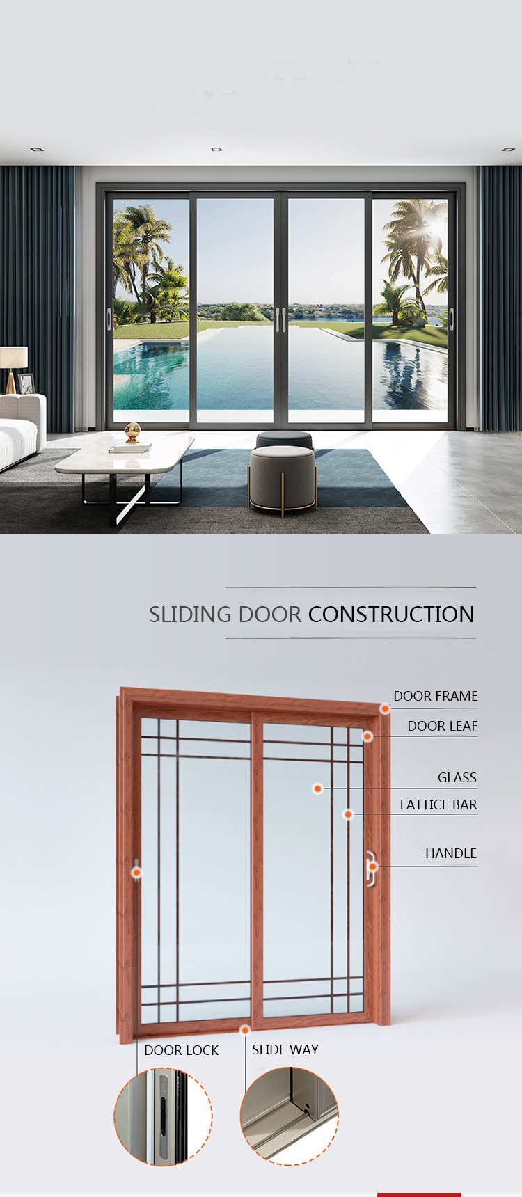 Residential Stacking Stackable Sliding Doors Modern Corner Stackable Stacking Oversized Patio Doors