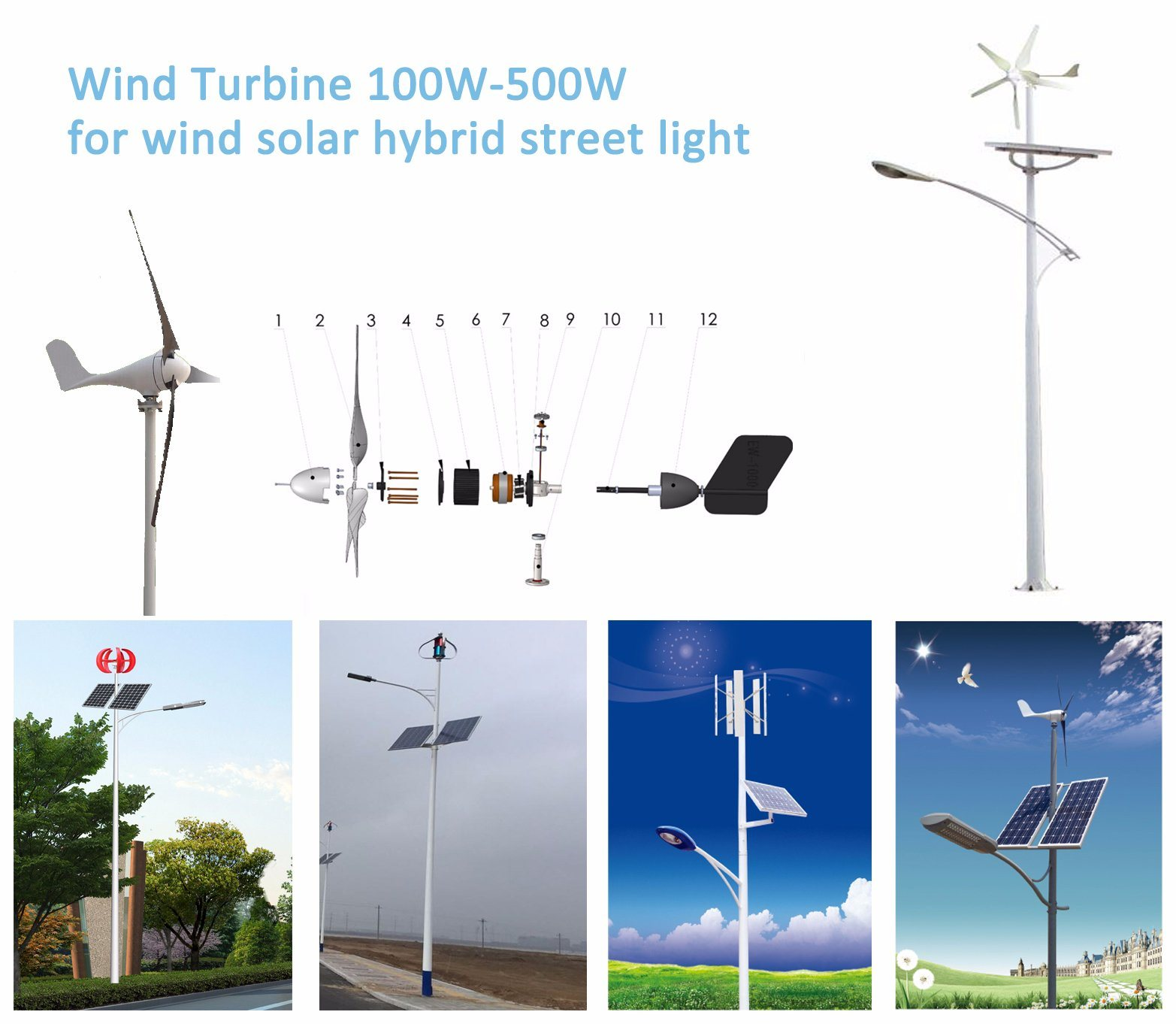 Smart Expo 300w Ac Three Phase Blade Permanent Magnet Motor Generator Project Solar Street Light Installation Guidelines