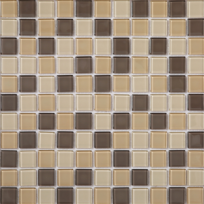 Cheap Price Brown Square Glass Mosaic Tiles Backsplash Wall Cladding China Tile Bathroom Tiles Made In China Com