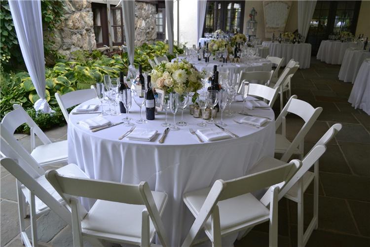 Hotel Restaurant Table Linens Plain, Round White Tablecloths For Wedding