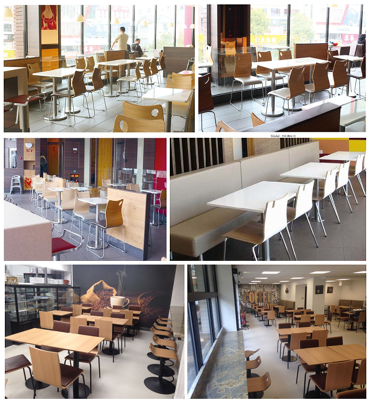 [Hot Item] Wholesale Chinese Modern Design Wood Table for  Restaurant/Canteen (FOH-CBC08)
