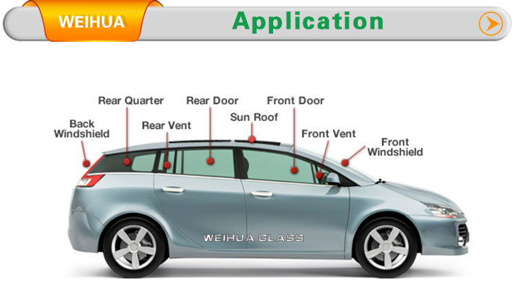Unbreakable Auto Glass Laminated Glass Side Door Glass For Cars