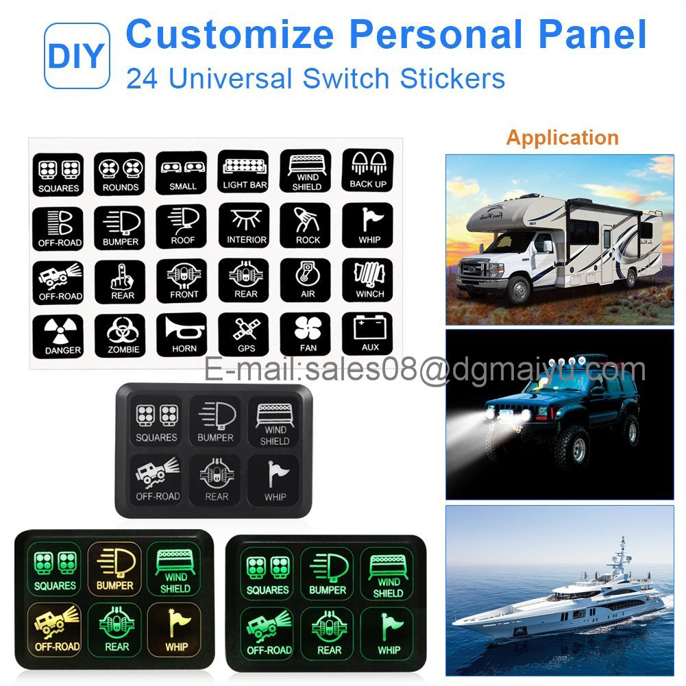 Universally Adaptable Dc12v Led 6 Switch Panel Electronic Relay Universal Wire Harness With Fuse Box An Innovative Unique Marine Grade In The Market 15 Pin Vga Transmission On Or Off Just Touch Lightly Compact Sleek Water Resistant Design