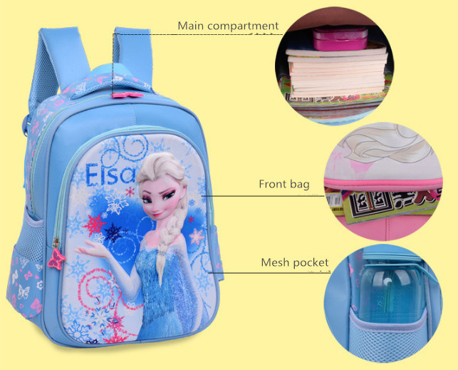 623d184ffa Hot Sale Frozen Girl Backpack Children s Schoolbag Cartoon Cute Bag ...
