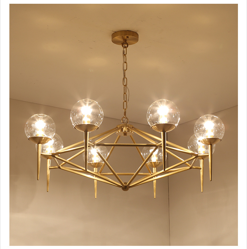 La moderna de lat n bronce cobre la luz de l mpara de ara a de cristal la moderna de lat n - Lampara arana moderna ...