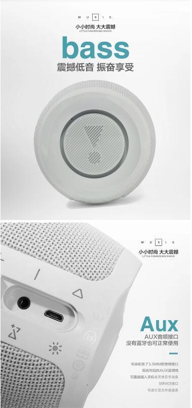 2020 Mini Bass Smart Bluetooth Speaker LED Portable Wireless Speaker Pulse3 D Stereo MP3 Player for Jbl Phone Computer Speaker