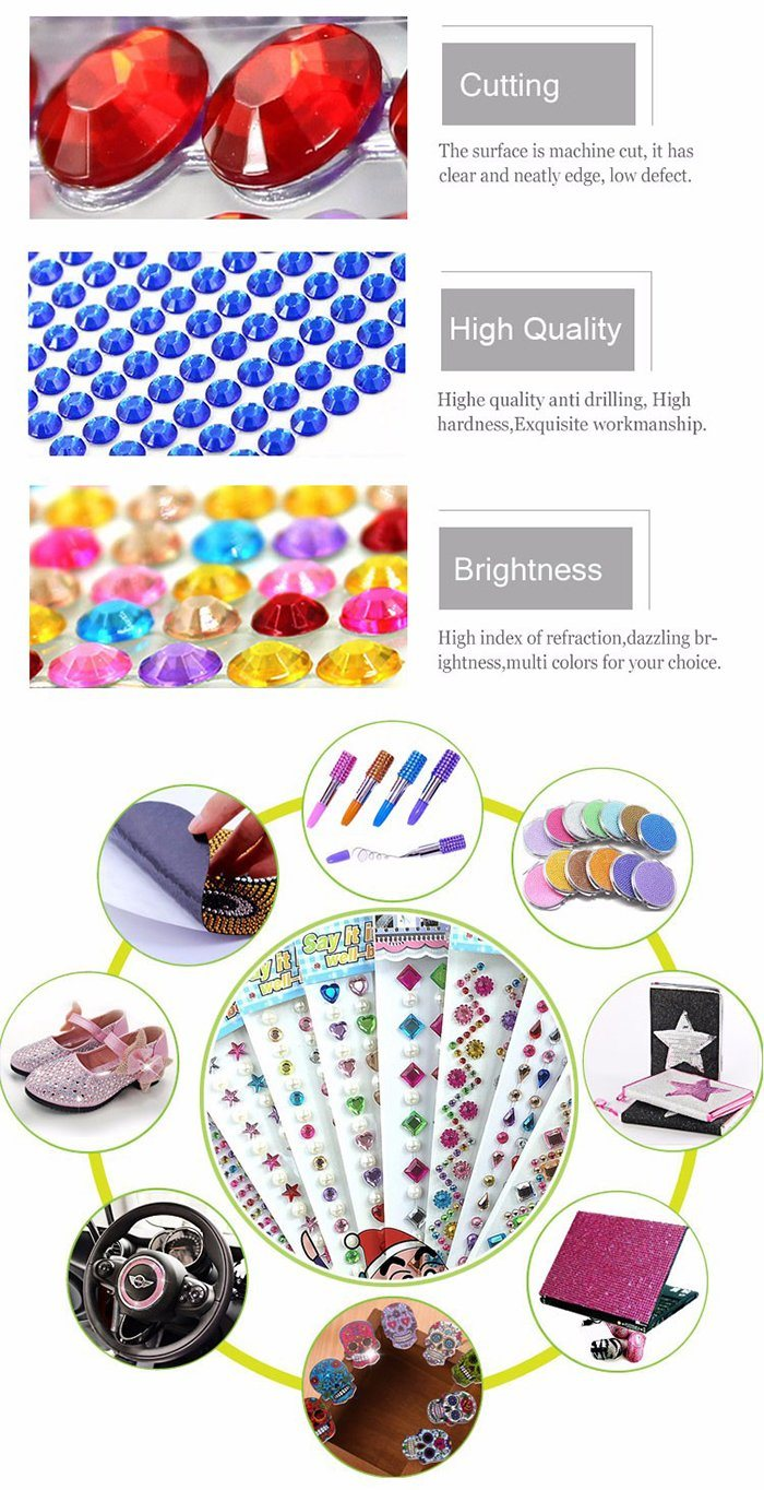 [Hot Item] Bling 6 Sets Self-Adhesive Mermaid Face Gems Stickers