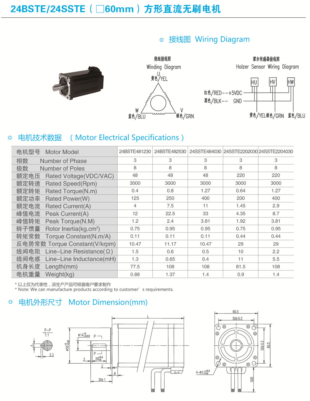 24bste481230 48vdc Bldc Motor For Textile Machine China Brushless Dc Wiring Diagram Baolongs Is An Innovative Combination Of High Technology From Domestic And Abroad It Has Lower Noise Smaller Vibration Longer