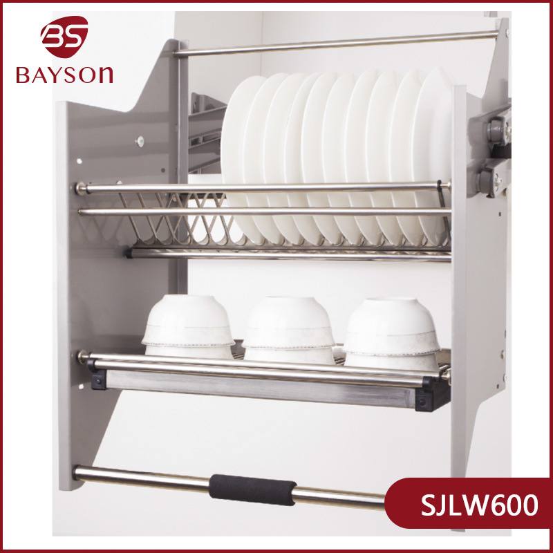 Sjlw 2 Layer 600 800mm Kitchen Cupboard, Kitchen Cabinet Hanging Rack