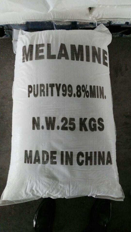 Industrial Grade White Powder Melamine 99.8% for Resin