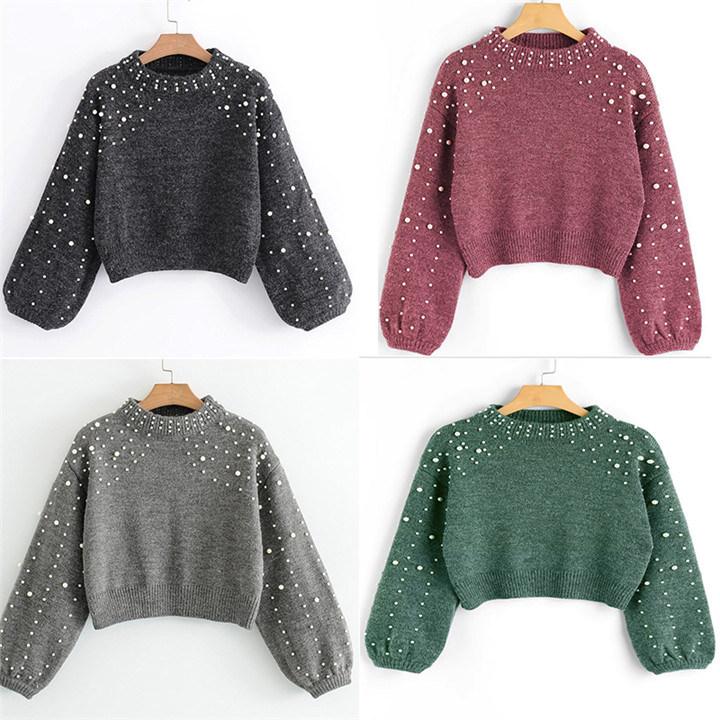 Nuevo Diseño Venta caliente señoras suéter con cordones suéter ...