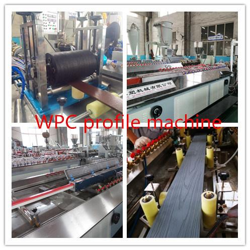 PP/PE PVC WPC Wood Plastic Composite Decking Floor Fence Post Window and Door Frame Profile Making Machine Extruder Machine