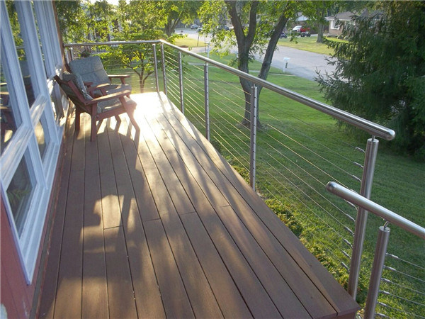 Stainless Steel Cable Railing/Wire Rope Railing - China Wire Rope ...