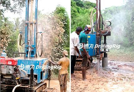 Air Compressor DTH Water Well Drilling Rig Dfq-100