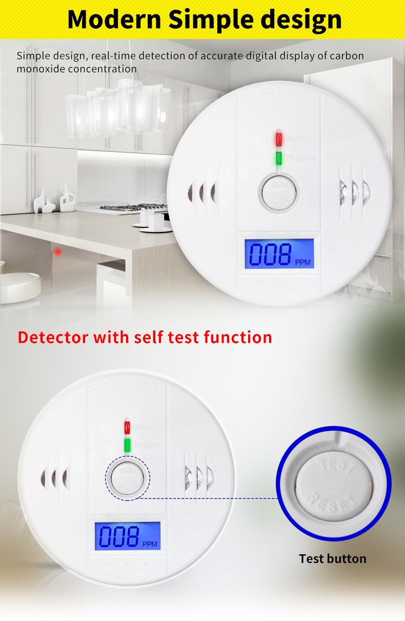 Carbon Monoxide Detectors Useful High Sensitive Co Gas Sensor Lcd Photoelectric Independent Co Sensor Carbon Monoxide Poisoning Warning Alarm Detector 85db Attractive Designs;