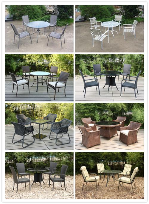 Chaise en rotin moderne/l\'osier et de table carrée Patio Jardin ...