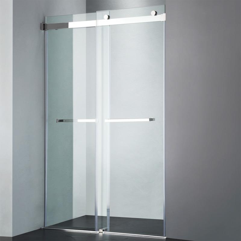 Bathtub Screen Double Sliding Glass Door With Towel Bars China