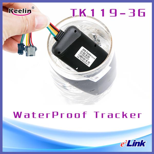 Waterproof 3G GPS Car Tracker to Keep Security for Fleet Managment Tk119-3G