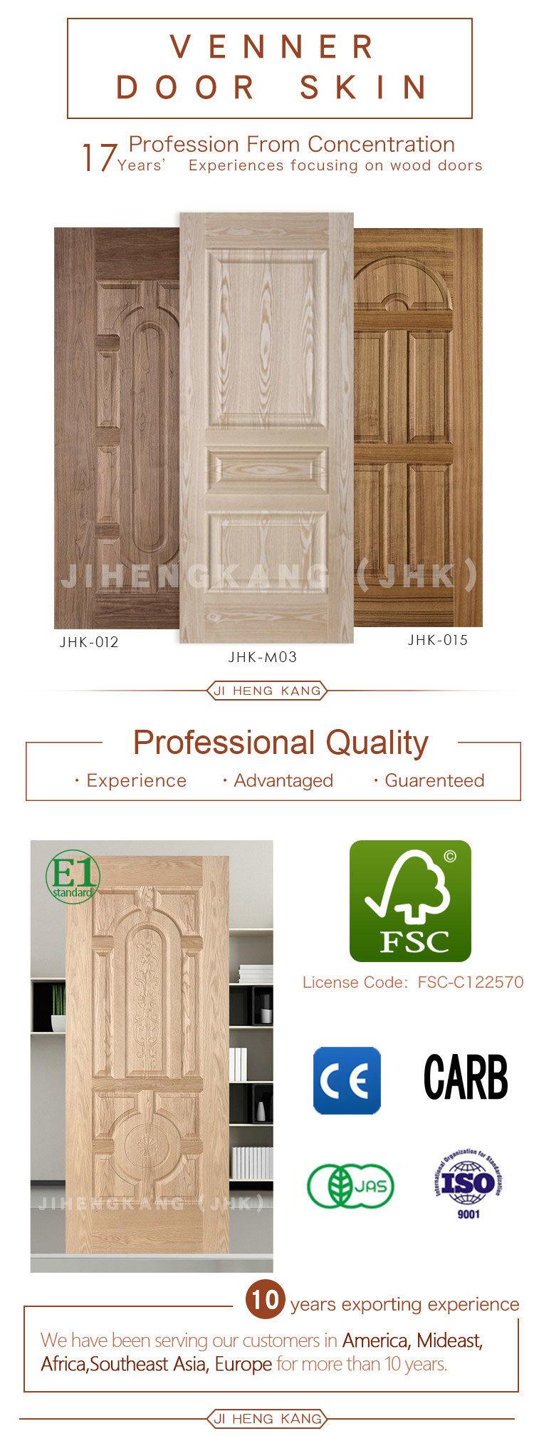 HDF sólido del molde de la puerta de chapa de madera de cerezo de la ...