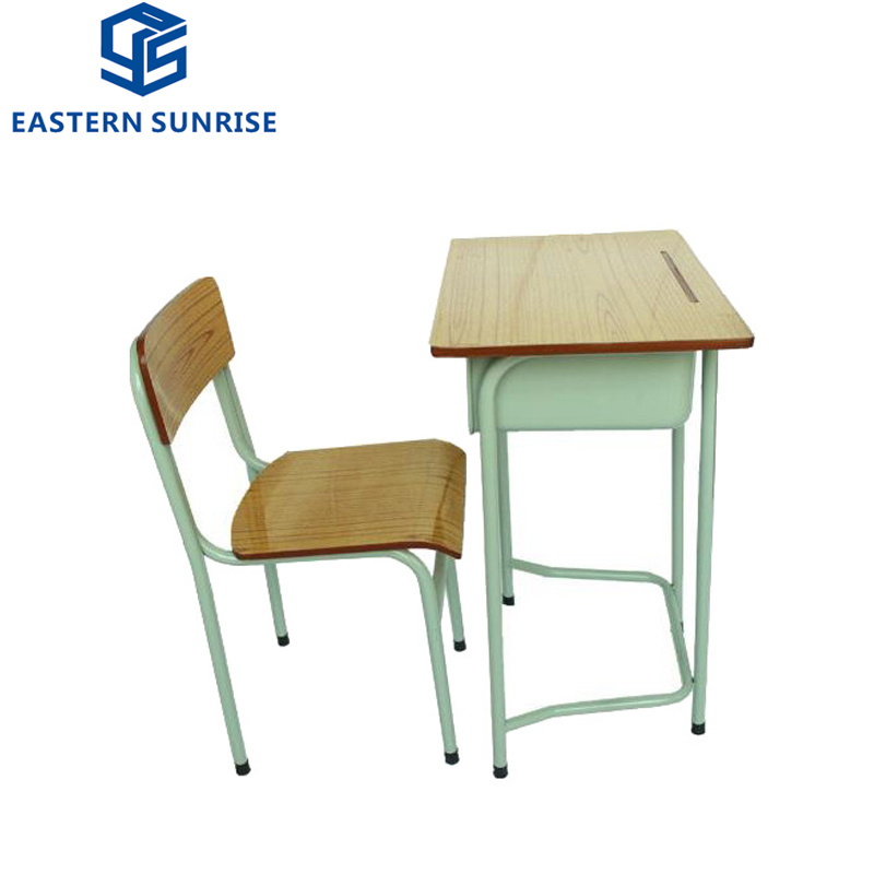 2018 Wholesale School Furniture Single Student Desk and Chair