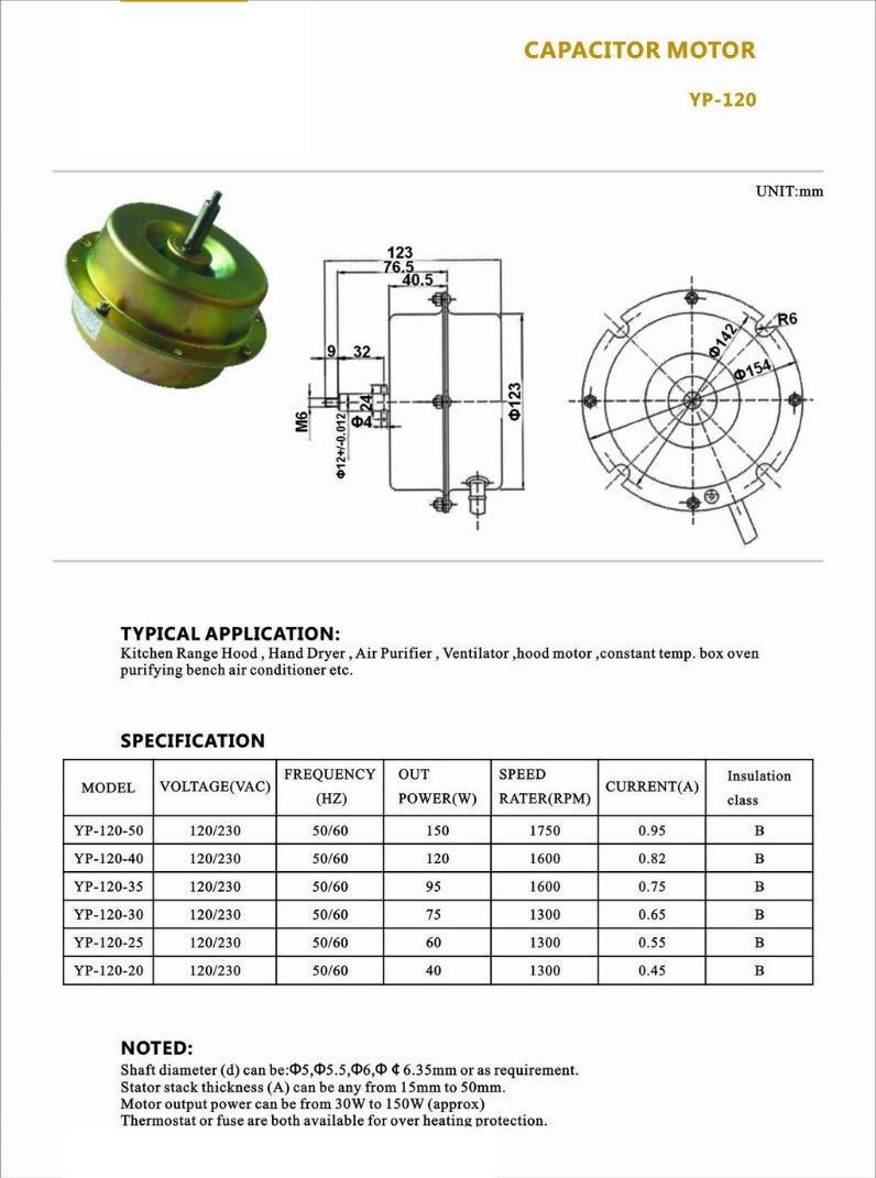 Electrical Motor Induction 48v For Air Conditioner China Electric Inducer Fan Wiring Diagram Output Power 08 To 60w Approximately Thermostat Or Fuse Are Both Available Overheat Protection Typical Applications Kitchen Range Hood