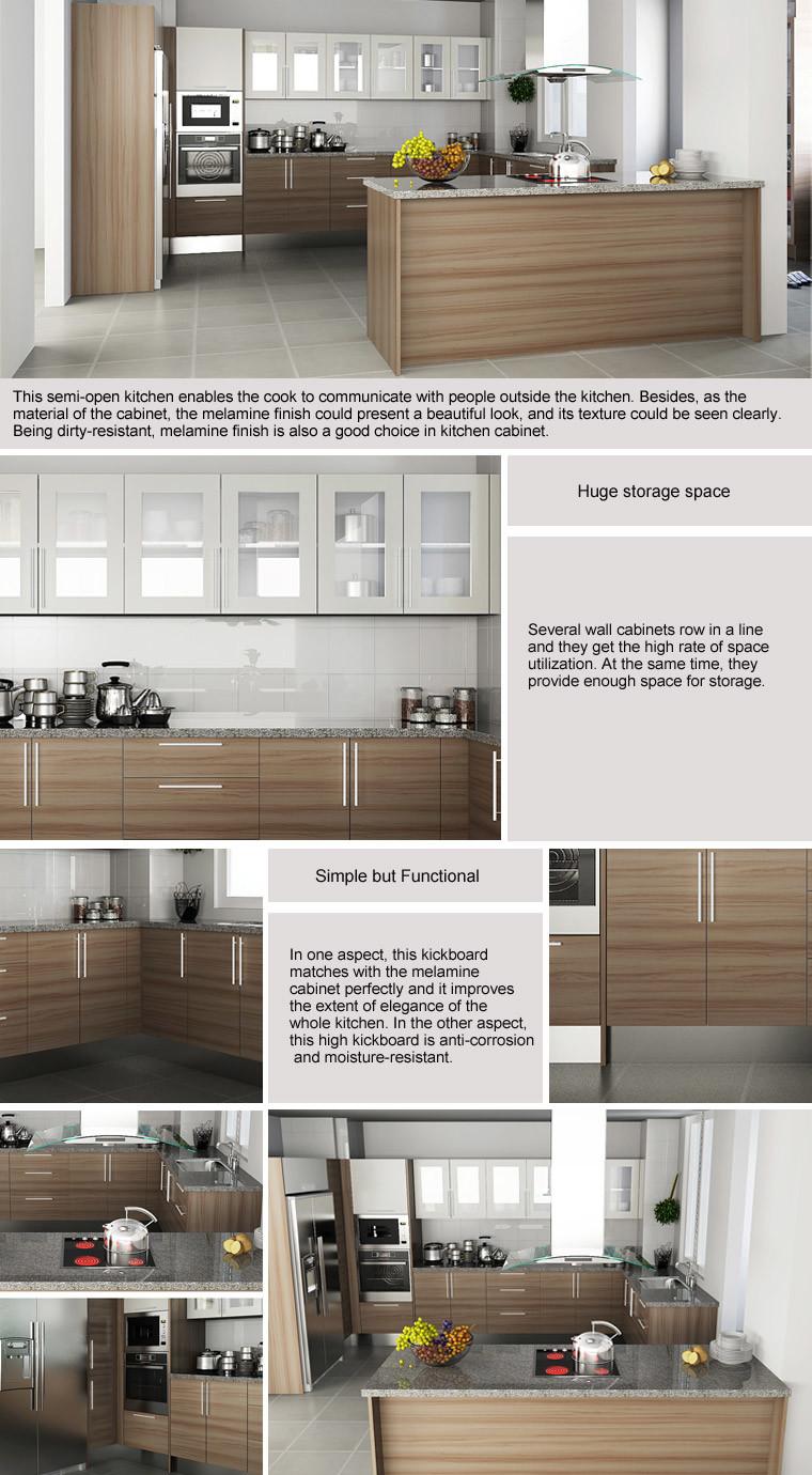 Oppein Hot Sale Kenya Project Melamine Wooden Kitchen Cabinets (OP15 ...